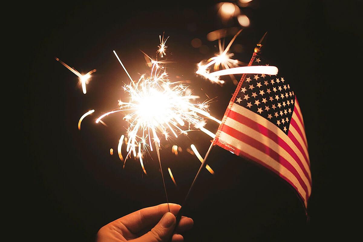 America flag Rocketfireworks